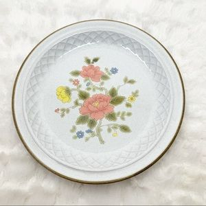 Nikko Japan peach blossom basketweave plates 6